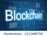 blockchain word on digital... | Shutterstock . vector #1111680701