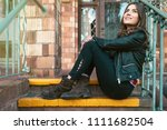 beautiful young female with...   Shutterstock . vector #1111682504
