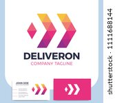 abstract business delivery or... | Shutterstock .eps vector #1111688144