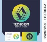 network technology rhombus... | Shutterstock .eps vector #1111688165