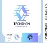 network technology rhombus... | Shutterstock .eps vector #1111688171