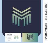 media letter m vector logo in a ... | Shutterstock .eps vector #1111688189