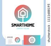 smart or technology home logo... | Shutterstock .eps vector #1111688195
