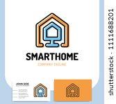 smart or technology home logo... | Shutterstock .eps vector #1111688201
