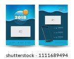 vector cover design template... | Shutterstock .eps vector #1111689494