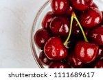 cherries. cherry. cherries in... | Shutterstock . vector #1111689617