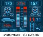 car service. scanning....   Shutterstock . vector #1111696289