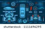 car service. scanning....   Shutterstock . vector #1111696295