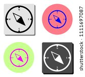compass. simple flat vector...