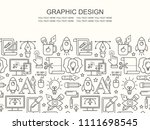 vector graphic design seamless... | Shutterstock .eps vector #1111698545
