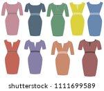 woman dress beautiful | Shutterstock .eps vector #1111699589