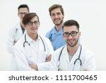 closeup.smiling team of...   Shutterstock . vector #1111700465