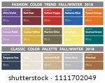 fashion color trend fall winter ...   Shutterstock .eps vector #1111702049
