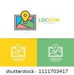 simple gps  location  route map ... | Shutterstock .eps vector #1111703417
