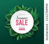 beautiful summer sale... | Shutterstock .eps vector #1111704944