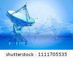 satellite dishes antenna  ... | Shutterstock .eps vector #1111705535