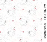seamless pattern with cute... | Shutterstock .eps vector #1111707695