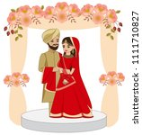 cute indian couple in...   Shutterstock .eps vector #1111710827