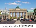 Small photo of BERLIN, GERMANY - APRIL 28, 2018: Famous German landmark and national symbol Brandenburger Tor (Brandenburg Gate) in Berlin.