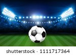 football arena field with... | Shutterstock .eps vector #1111717364