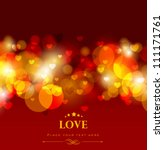 shiny love background with red... | Shutterstock .eps vector #111171761