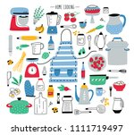 collection of hand drawn... | Shutterstock . vector #1111719497
