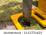 soil auger drill used for keep... | Shutterstock . vector #1111721621