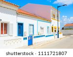 street with typical  portuguese ... | Shutterstock . vector #1111721807
