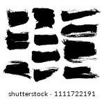 vector ink splashes or black... | Shutterstock .eps vector #1111722191
