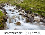 river in a mountains | Shutterstock . vector #111172901