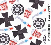 seamless pattern with cinema... | Shutterstock .eps vector #1111730954