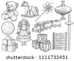 children toy collection ...   Shutterstock .eps vector #1111732451