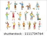 active and modern old people | Shutterstock .eps vector #1111734764