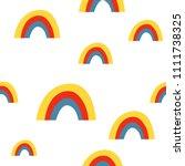 rainbow seamless pattern | Shutterstock .eps vector #1111738325