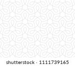 pattern with thin curl lines... | Shutterstock .eps vector #1111739165