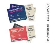 vector paper ticket. music ... | Shutterstock .eps vector #1111739774