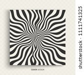 pattern with optical illusion....   Shutterstock .eps vector #1111741325