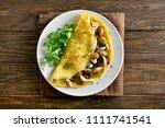 healthy food for breakfast.... | Shutterstock . vector #1111741541