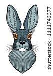portrait of a gray  rabbit   Shutterstock .eps vector #1111743377