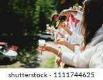 guest at the wedding with the... | Shutterstock . vector #1111744625