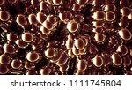 gold metal background. 3d... | Shutterstock . vector #1111745804