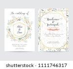 geometry gold wedding... | Shutterstock .eps vector #1111746317