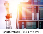 office building detail and... | Shutterstock . vector #1111746491
