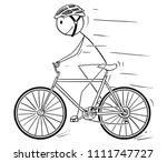 cartoon stick drawing... | Shutterstock .eps vector #1111747727