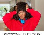 african american woman wearing...   Shutterstock . vector #1111749107