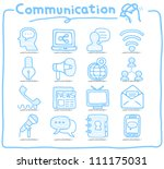 pure series   hand drawn... | Shutterstock .eps vector #111175031