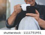 30 40s  asian freelance man ... | Shutterstock . vector #1111751951