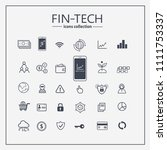 financial technology web icon... | Shutterstock .eps vector #1111753337