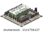 isometric city buildings ... | Shutterstock . vector #1111756127