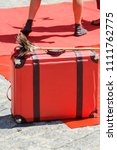 red suitcase of clown | Shutterstock . vector #1111762775